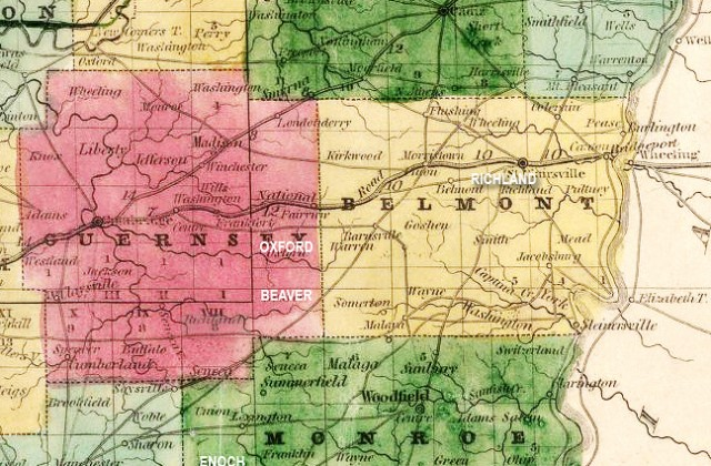 McKenneys of Belmont, Monroe, Guernsey and Harrison Counties, Ohio
